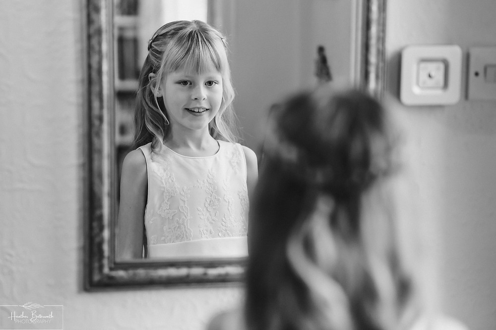 leeds wedding photographer Yorkshire black and white daughter