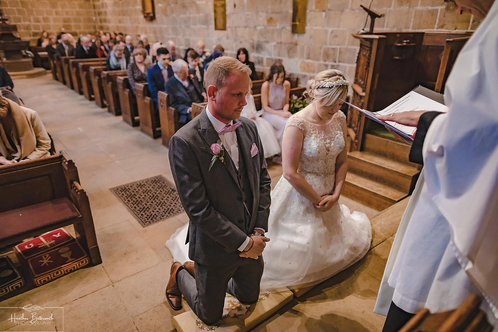 leeds wedding photographer Yorkshire adel parish church st John the baptist the blessing ceremony service