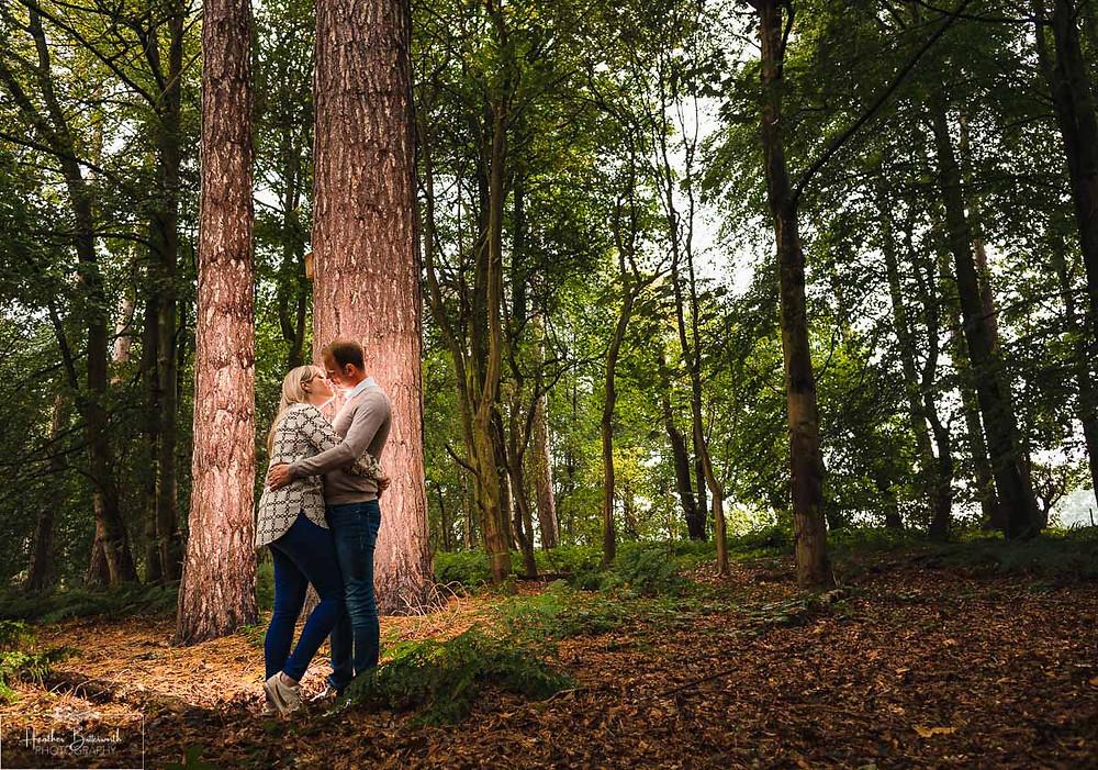 golden acre park Leeds wedding photographer engagement shoot