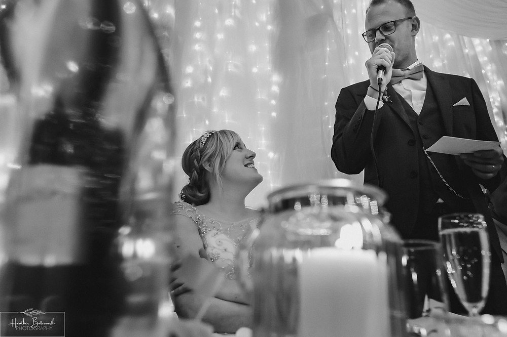leeds wedding photographer Yorkshire reception alwoodley community hall groom speech