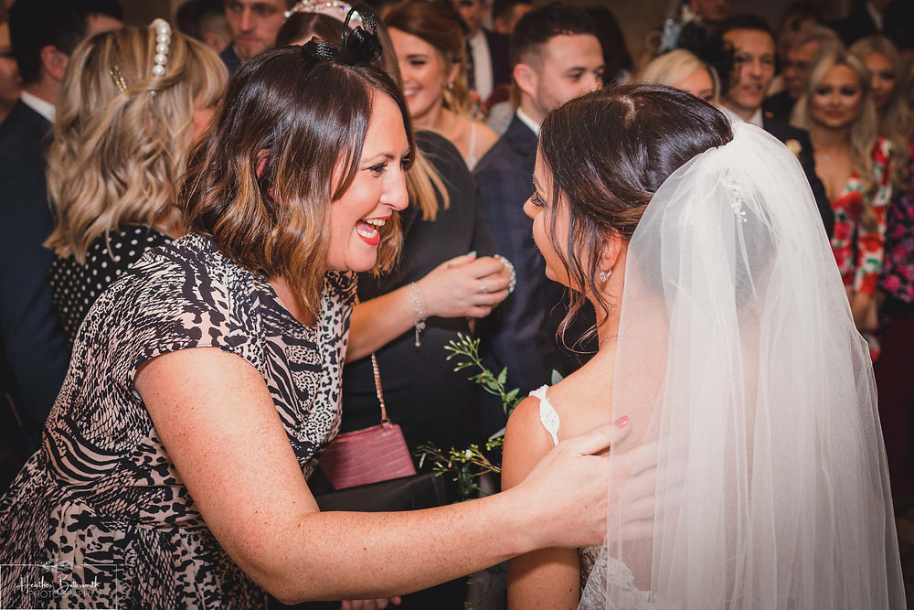 Bride Bex with a family friend at The Burnside Hotel and Spa in Bowness-on-Windermere