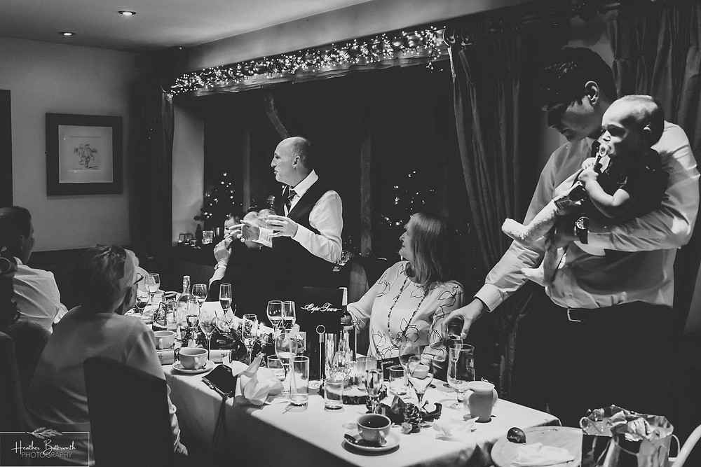 Father of the brides speech at The Woodman Inn in Thunderbridge, Yorkshire