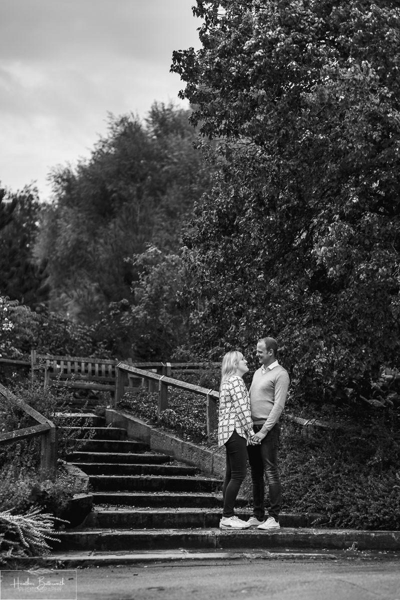 golden acre park Leeds wedding photographer engagement shoot cloud