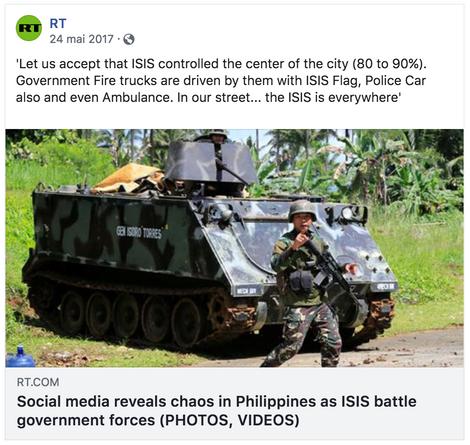 Les Philippines atteintes par le fléau de Daesh