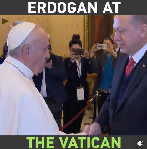 Le Pape rencontre Erdogan ; honteux!