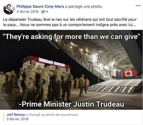 Soutien aux vétérans: la véritable indignité de Trudeau