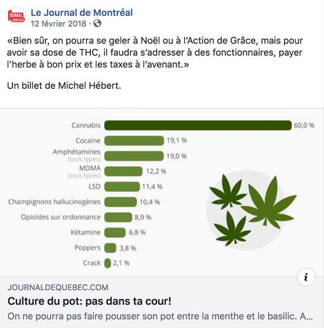 Légalisation du cannabis au Canada: un projet bâclé