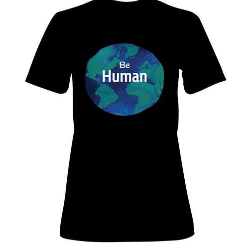 Women's Be Human T- Shirt Black