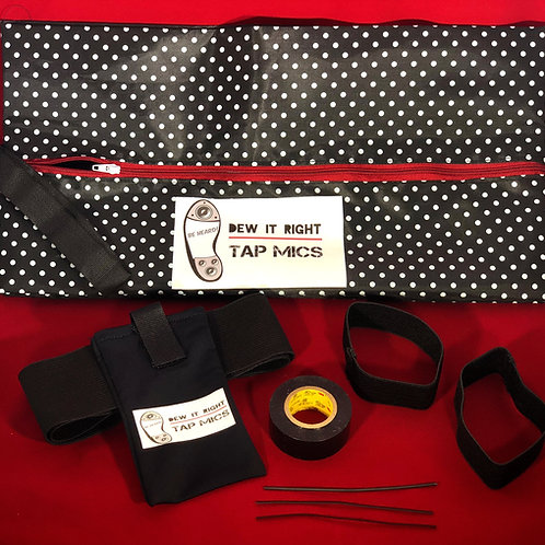 DeW it Right Tap Starter Kit (Black and White Polka Dot)