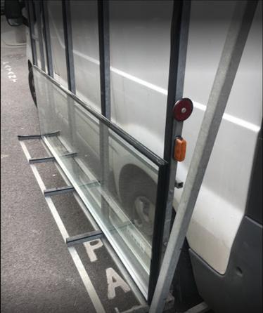 Porte verre, nouveau vitrage