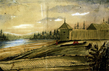 Painting by William Henry Newton Image, courtesy BC Archives/PDP00029
