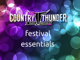Festival Essentials