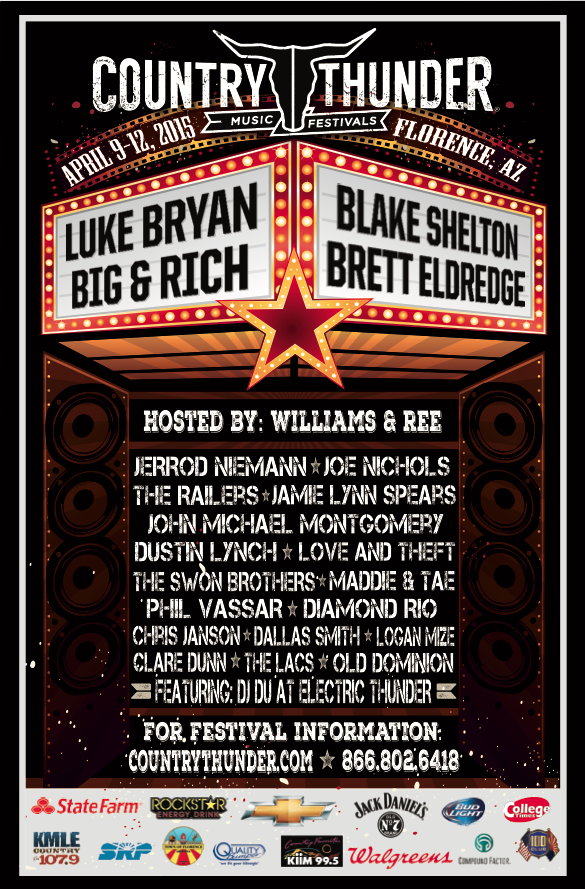 Country Thunder Arizona Florence Az Past Lineups