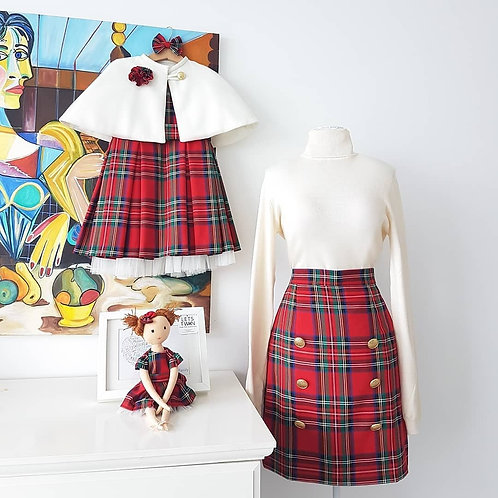 Holly Dress & Cape Set With Doll