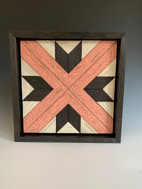 Small Quilt Square in Salmon
