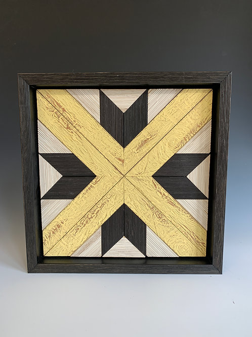 small quilt square in yellow