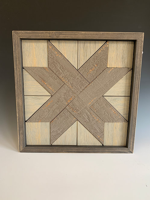 Small gray tone quilt square