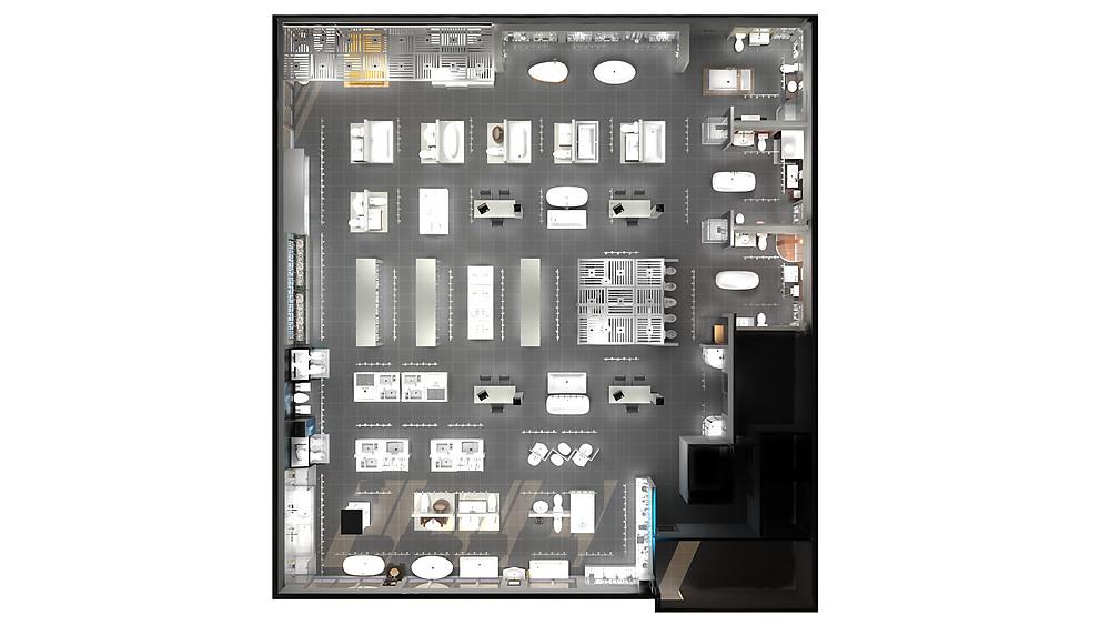 Thalassa Showroom Floor Plan