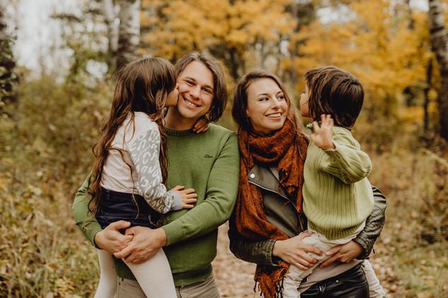 herbstliches Familienfoto