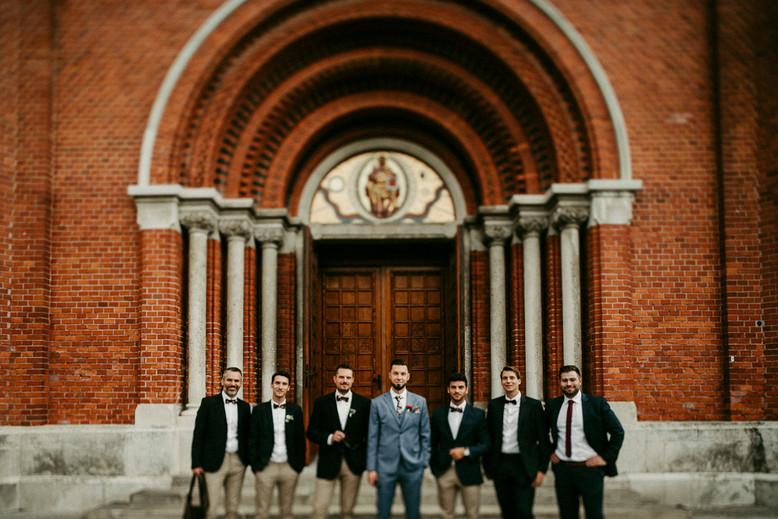 Hochzeit, Gabrium, groomsmen