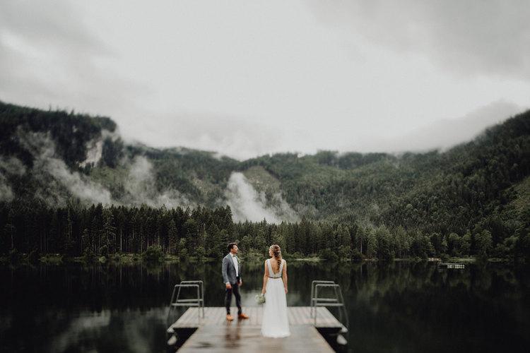 Brautpaar am Ödensee, Hochzeit Bad Ausee, Hochzeit Steiermark, Hochzeit am See, Heiraten am See