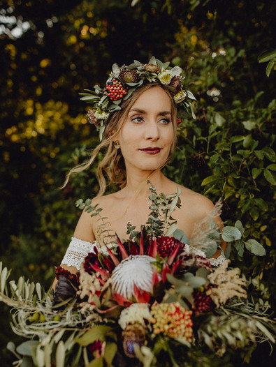 Boho Braut, Boho Hochzeit, Afterweddingshooting, Brautportrait, Vintage Hochzeit, Vintage Braut