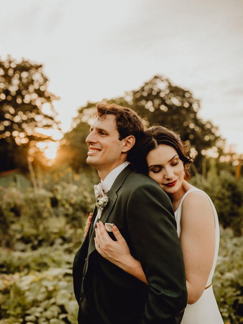 Gabrium Hochzeit, Brautpaar, Sonnenuntergang, chice Hochzeit Mödling, Ivory Rose Photography