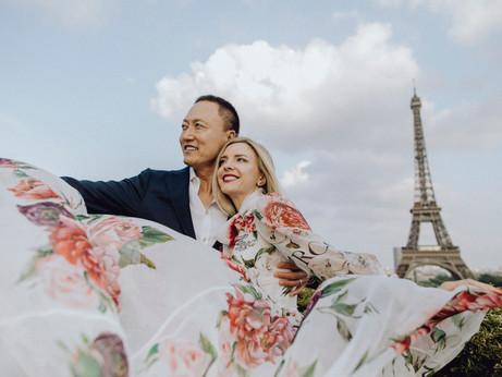 Liebesgeflüster in Paris