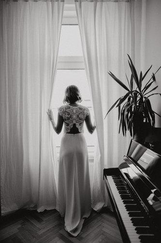 Bridal Getting Ready, Braut Getting Ready, Braut Porträt schwarzweiß