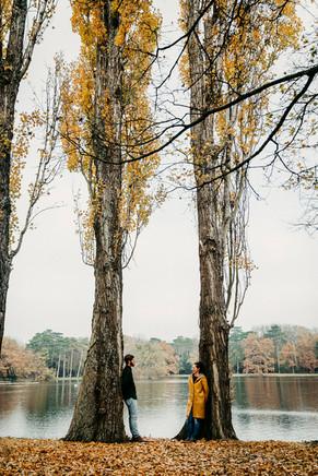 herbstliches Paarshooting, Laxenburg, Verlobungsshooting im Herbst