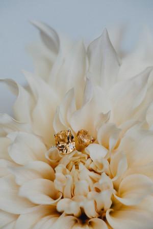 bernstein, diamant, ringe, detailverliebt, gelbe blume