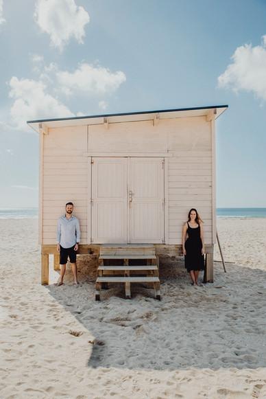 Destination Wedding, Engagementshooting am Meer, Portugal, Paarfotos am Strand, Ivory Rose Photography