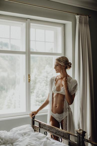 boudoirfoto in lingerie