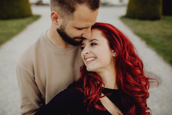 Nahaufnahme, lachendens Pärchen, vienna couplephotography