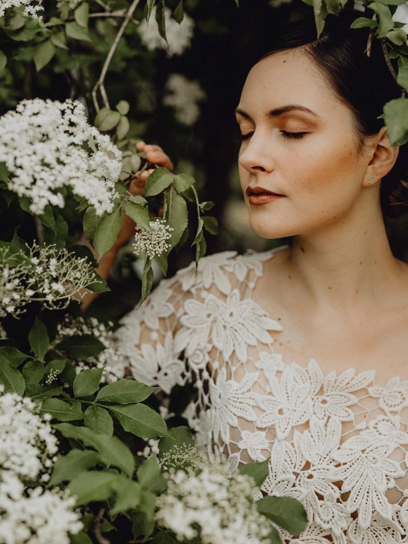20er Jahre Braut, Braut Portrait, Vintage Braut, Spitzen Brautkleid,  Ivory Rose Photography