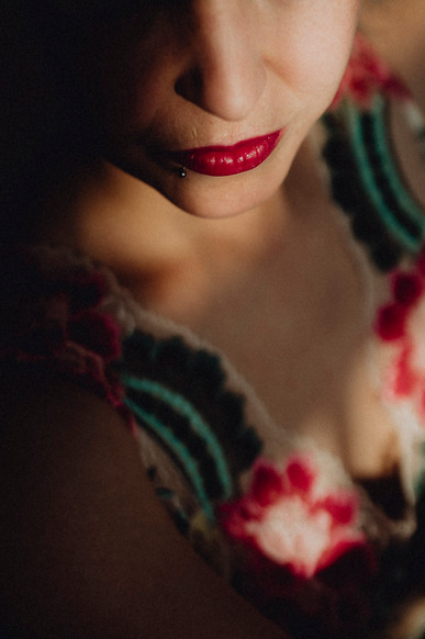 boudoirfoto detail lippen