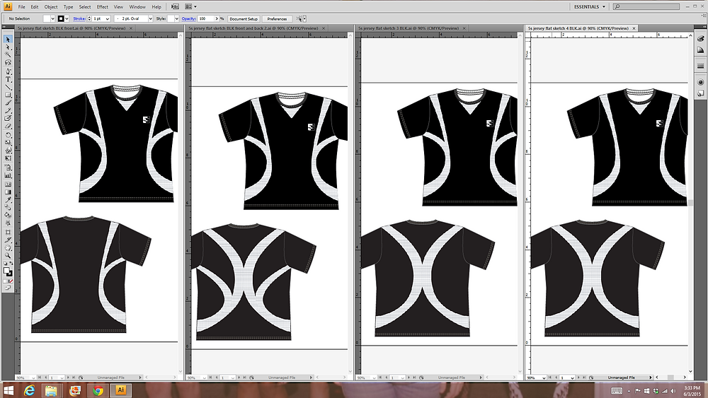 rough flats laid out in illustrator
