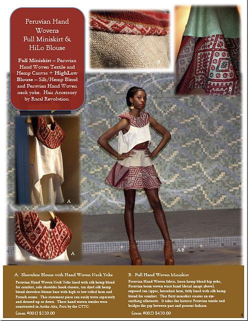 Peruvian Hand Woven Miniskirt