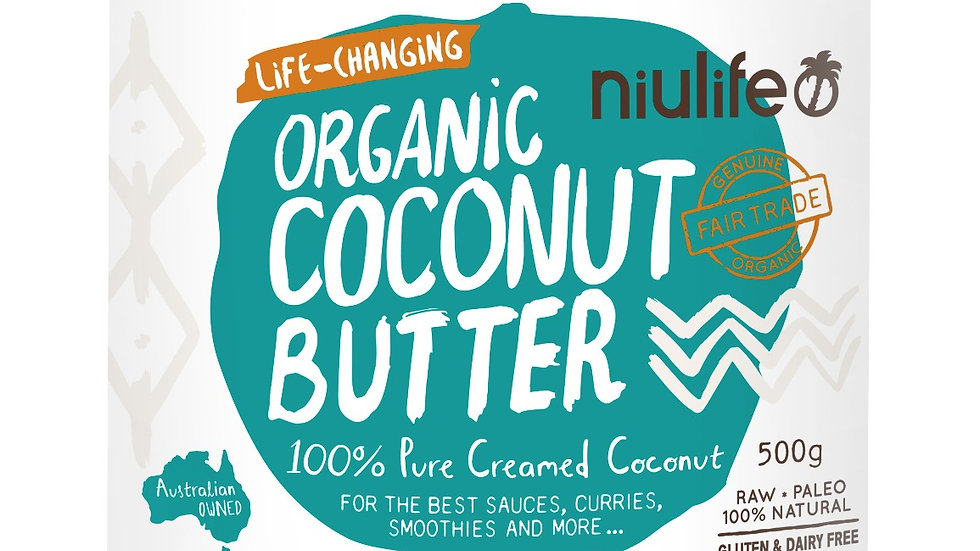 Niulife Organic Coconut Butter 500g