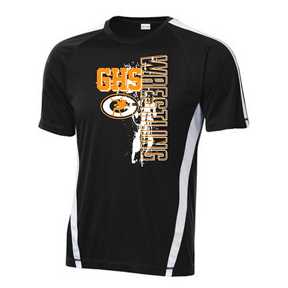 Green Wrestling Sport Teck Logo #5 T-Shirt