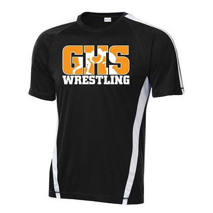 Green Wrestling Sport Teck Logo #6 T-Shirt