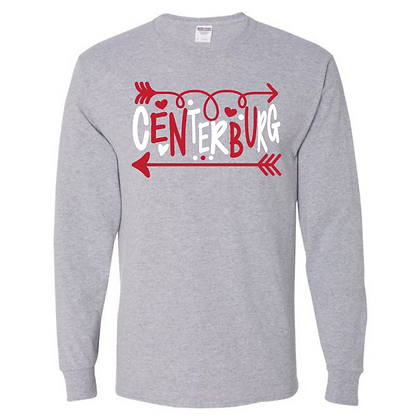 Centerburg Logo 3 GLITTER Long Sleeve Shirt