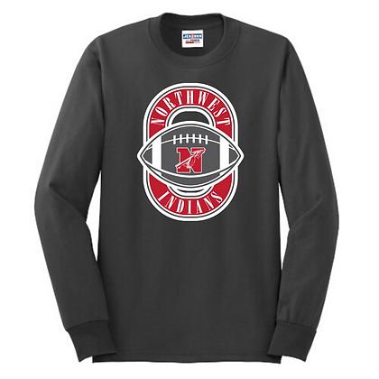 Northwest Indians Football Logo Long Sleeve Shirt