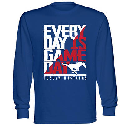 Everyday is Gameday Tuslaw Mustangs Unisex Long Sleeve T-Shirt