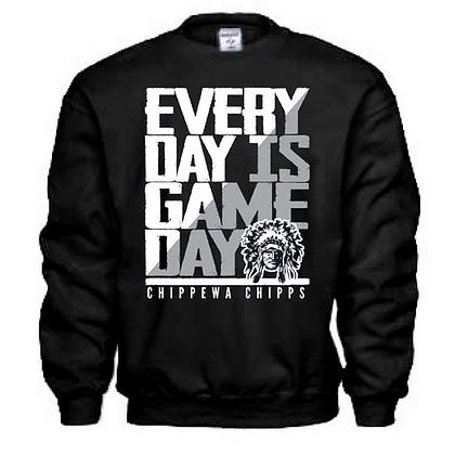 Everyday is Gameday Chippewa Chipps Crew Neck Sweatshirt