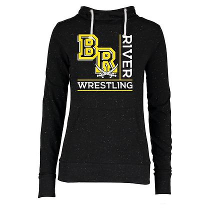 Black River Wrestling Design 1 Ladies Funnel Hoodie