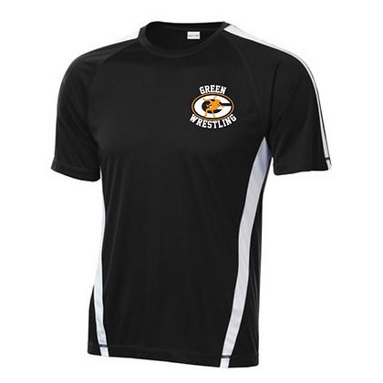 Green Wrestling Sport Teck Logo #13 T-Shirt