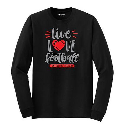 Centerburg Football Glitter Design Long Sleeve