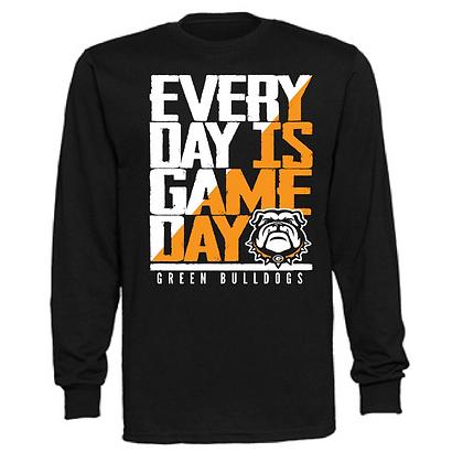Everyday is Gameday Green Bulldogs Unisex Long Sleeve T-Shirt