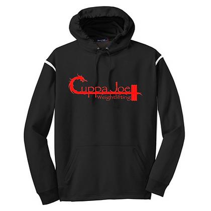 Cuppa Joe Unisex Colorblock Hoodie (Red Logo)